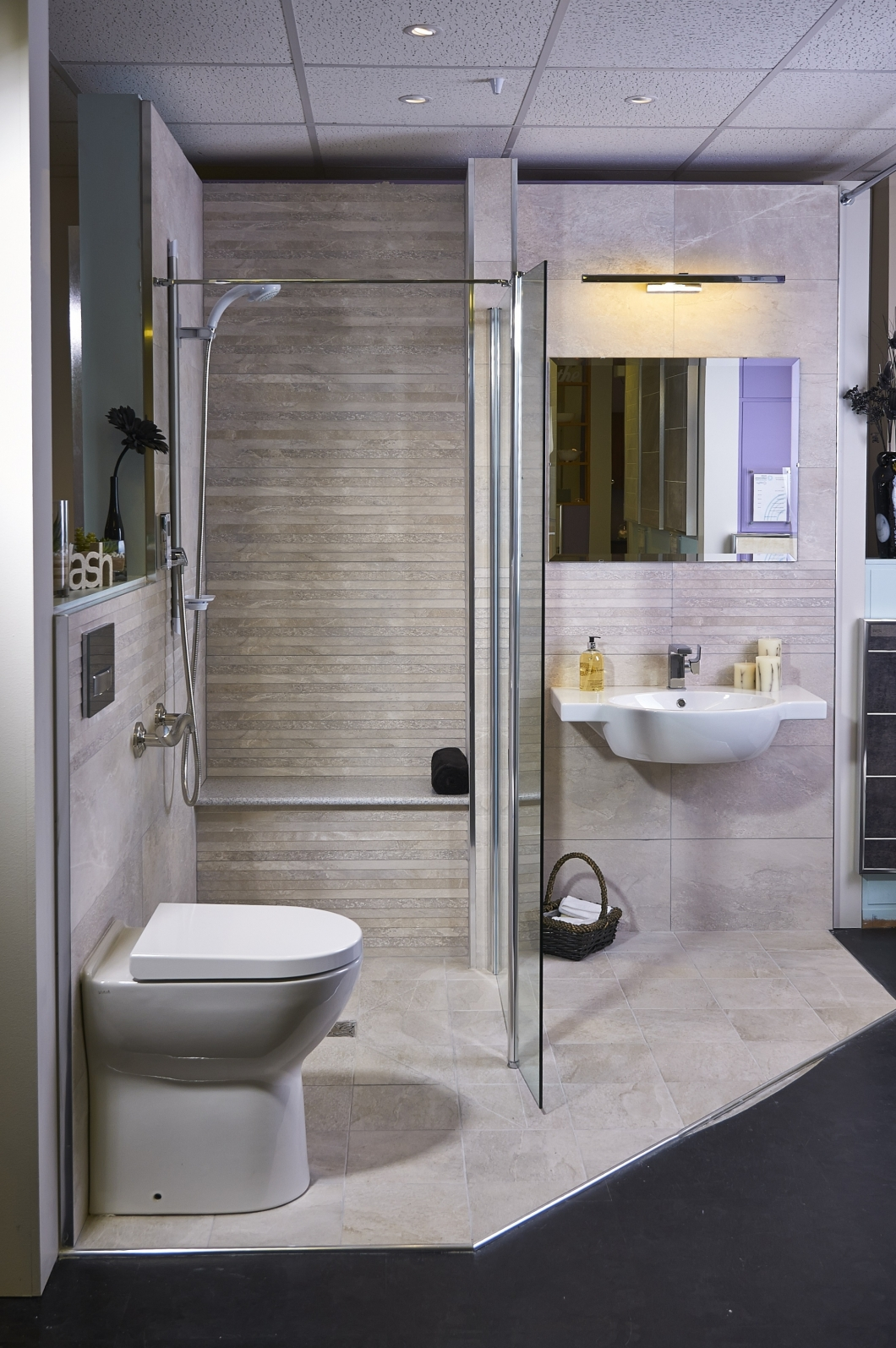 Stylish amp Accessible Wet Floor Showers Design Fit More