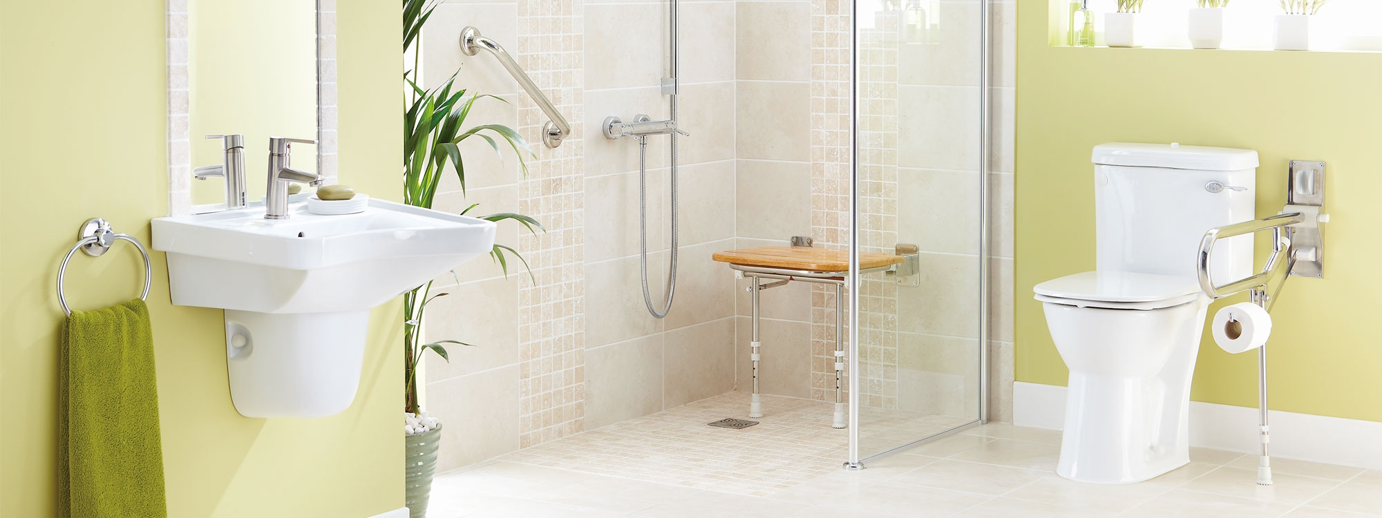 Safe practical bathrooms designed fit by more ability for Bathroom designs for seniors