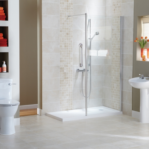 Stylish Walk In Shower Solution