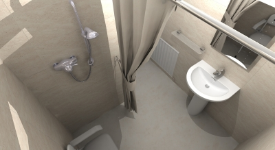 wet floor shower - designed, supplied & installed